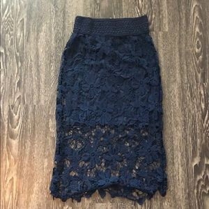 Dresses & Skirts - Navy blue pencil skirt